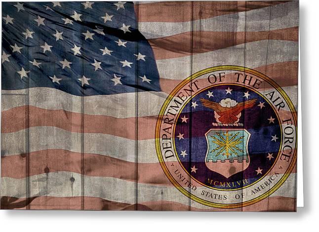 United States Air Force Logo Barn Door Greeting Card