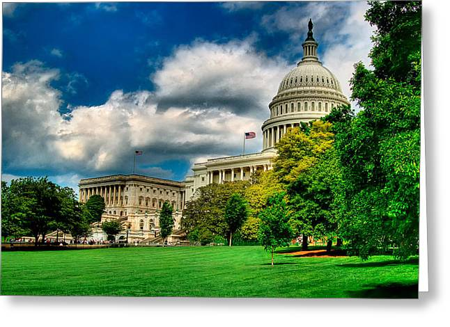 United States Capital House Side Greeting Card