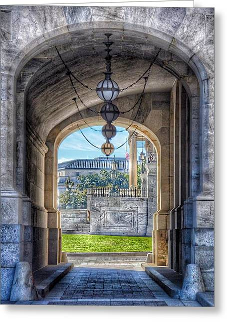 United States Capitol - Archway Greeting Card by Marianna Mills