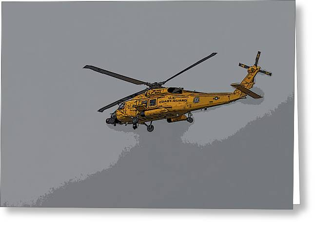 United States Coast Guard Helicopter Greeting Card