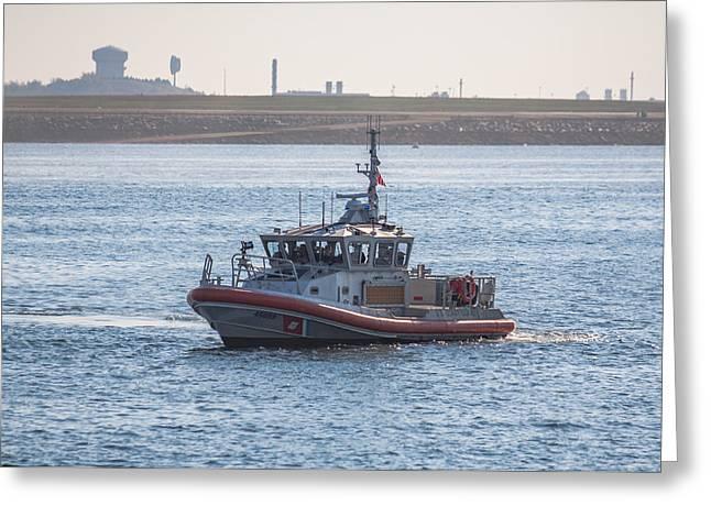 United States Coast Guard Patrol Boat Greeting Card by Brian MacLean