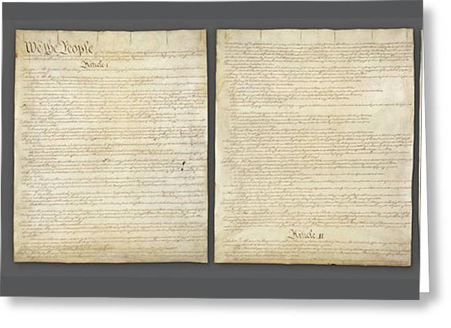 United States Constitution, Usa Greeting Card by Panoramic Images