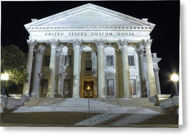 United States Custom House Greeting Card by Dustin K Ryan