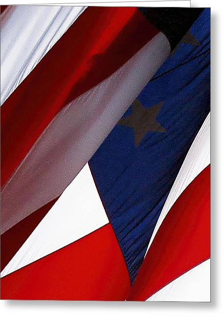 United States Flag Abstract Greeting Card
