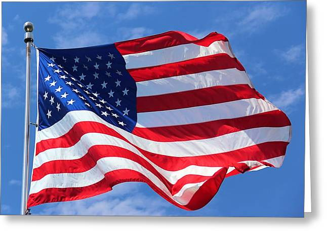 Greeting Card featuring the photograph United States Flag by Elizabeth Budd