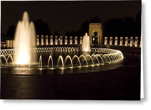 United States National World War II Memorial In Washington Dc Greeting Card by Brendan Reals