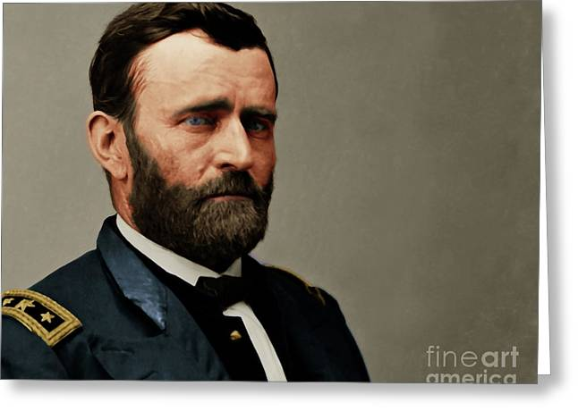 United States Of America President General Ulysses S Grant 20170521 Painterly Style Greeting Card