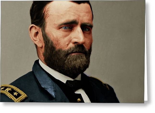 United States Of America President General Ulysses S Grant 20170521 Painterly Style Square Greeting Card