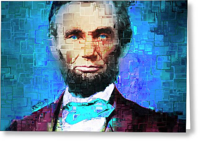 United States President Abraham Lincoln 20170325 Square Greeting Card by Wingsdomain Art and Photography