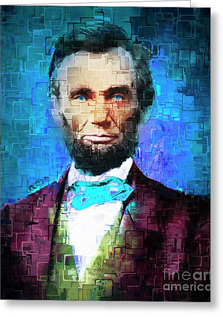 United States President Abraham Lincoln 20170325 Greeting Card by Wingsdomain Art and Photography
