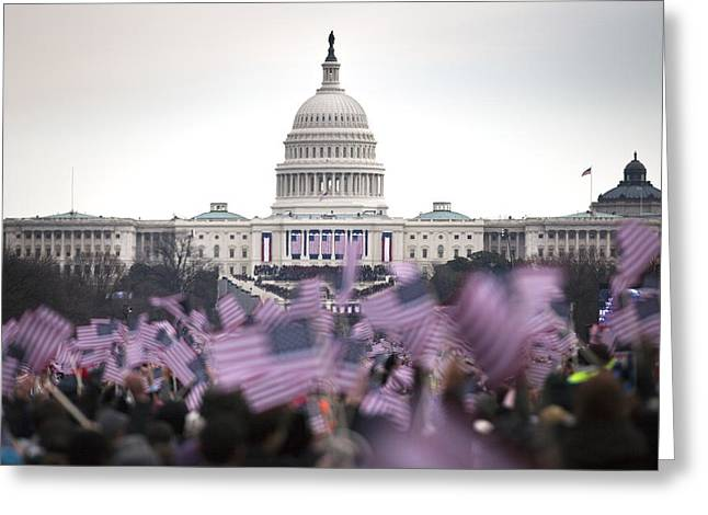 United States Presidential Inauguration Greeting Card by PhotographyAssociates