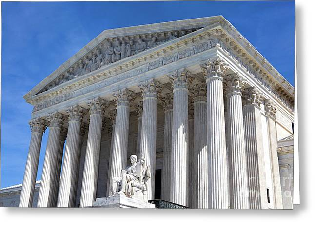 United States Supreme Court Building Greeting Card