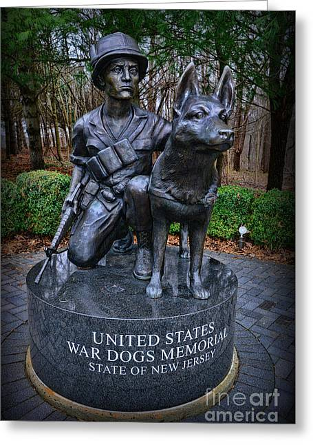 United States War Dog Memorial Greeting Card by Paul Ward