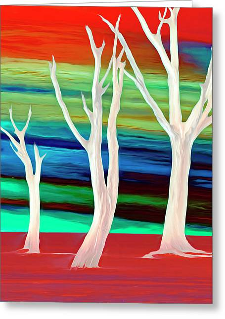Greeting Card featuring the photograph United Trees by Munir Alawi