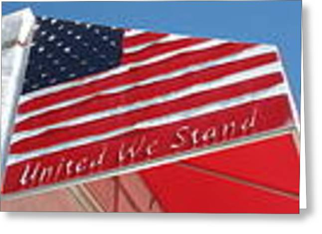 United We Stand Greeting Card by Sgns Of The Times Colleciton
