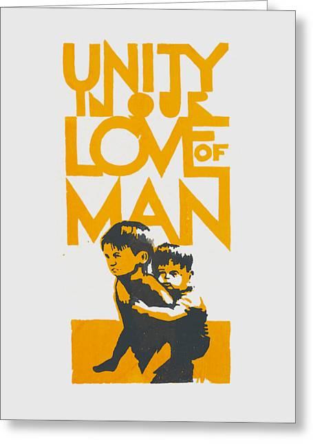 Unity In Our Love Of Man Greeting Card by Otis Porritt