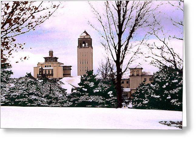 Greeting Card featuring the photograph Unity Village by Steve Karol