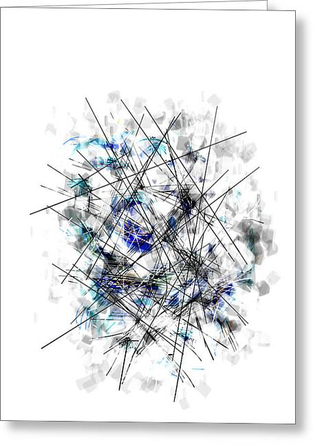 Universal Chaos Is The Order Of The Day Greeting Card by Ingrid Van Amsterdam