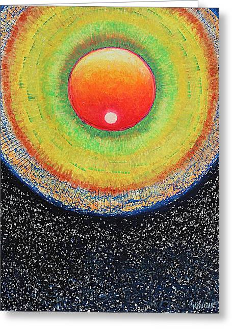 Universal Eye In Red Greeting Card