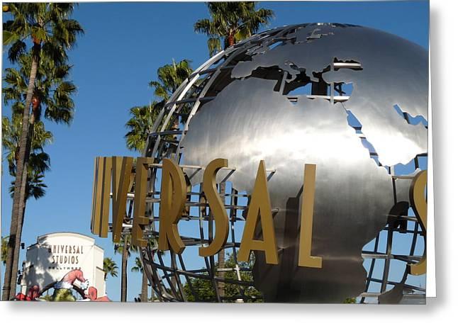 Universal Studios Globe Greeting Card by Jeff Lowe