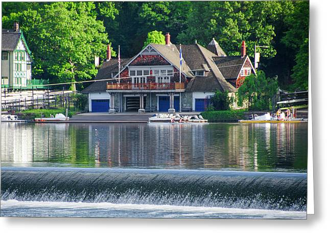 University Barge Club Of Philadelphia Greeting Card by Bill Cannon