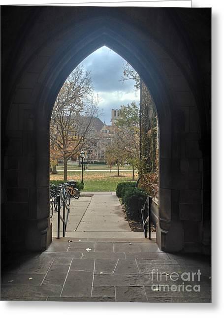 University Gate Greeting Card by Jannis Werner