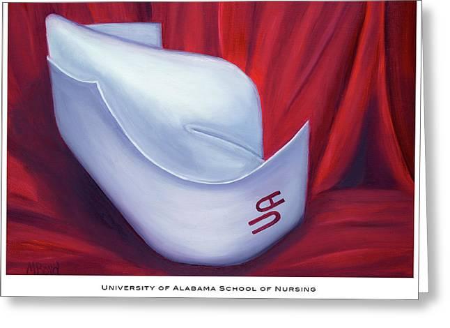 University Of Alabama School Of Nursing Greeting Card by Marlyn Boyd