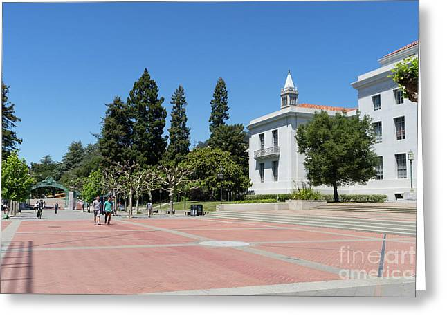 University Of California At Berkeley Sproul Plaza Sather Gate And Sather Tower Campanile Dsc6247 Greeting Card