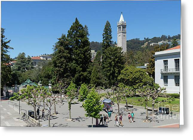 University Of California At Berkeley Sproul Plaza Sather Gate And Sather Tower Campanile Dsc6254 Greeting Card