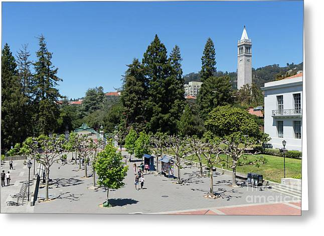 University Of California At Berkeley Sproul Plaza Sather Gate And Sather Tower Campanile Dsc6256 Greeting Card