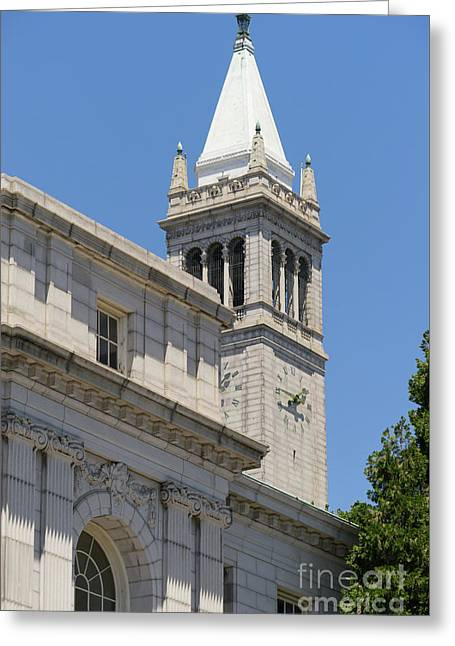 University Of California Berkeley Historic Ide Wheeler Hall And The Campanile Dsc4068 Greeting Card