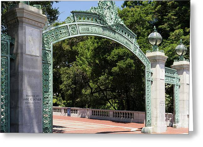 University Of California Berkeley Historic Sather Gate Dsc4080 Greeting Card