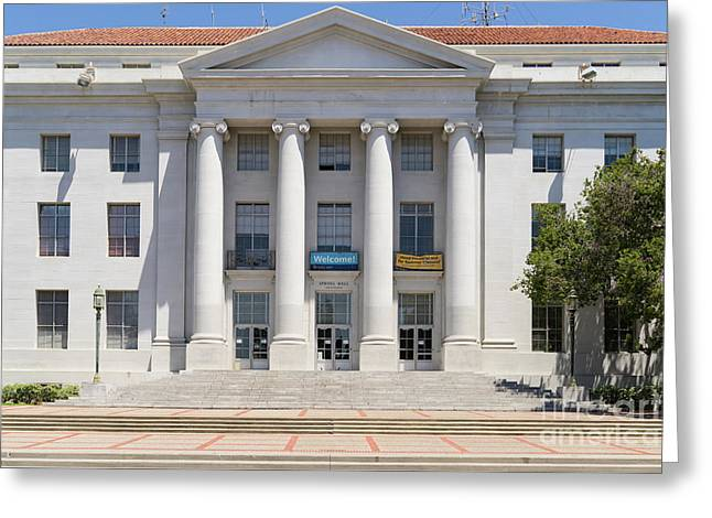 University Of California Berkeley Historic Sproul Hall At Sproul Plaza Dsc4081 Greeting Card