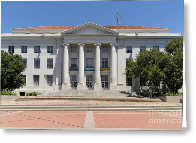 University Of California Berkeley Historic Sproul Hall At Sproul Plaza Dsc4083 Greeting Card