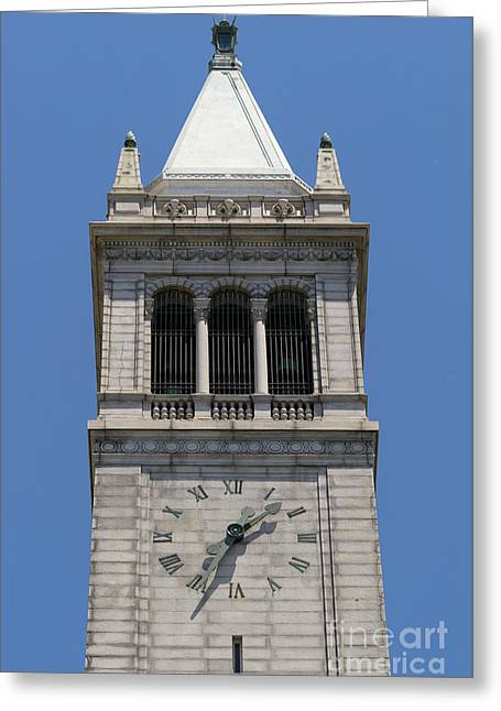 University Of California Berkeley Sather Tower The Campanile Dsc4046 Greeting Card by Wingsdomain Art and Photography