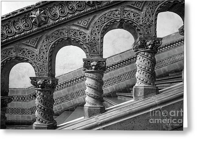 University Of California Los Angeles Powell Library Stairway Greeting Card by University Icons
