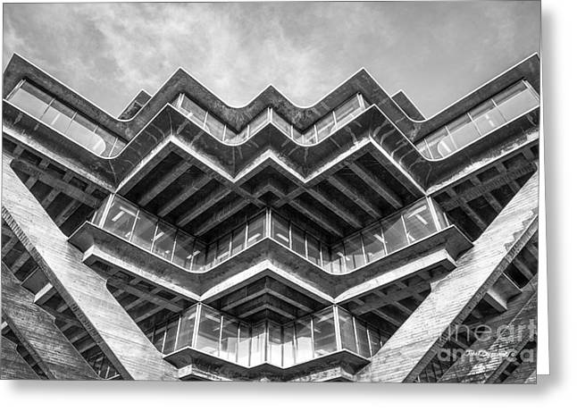 University Of California San Diego Geisel Library Abstract Greeting Card by University Icons