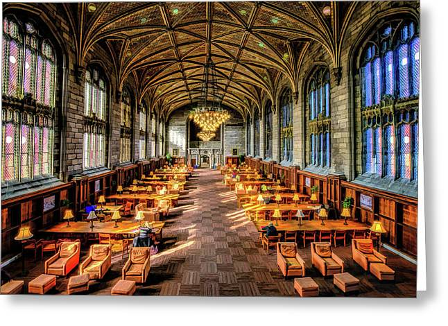University Of Chicago Harper Library Greeting Card