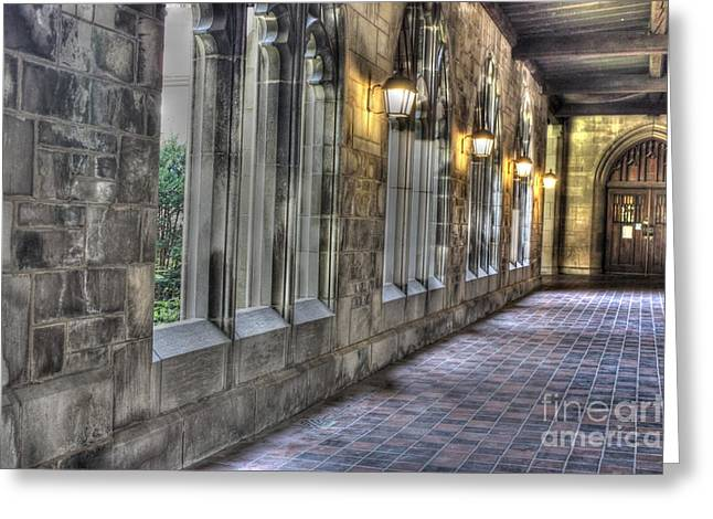 University Of Chicago Portico Greeting Card by David Bearden
