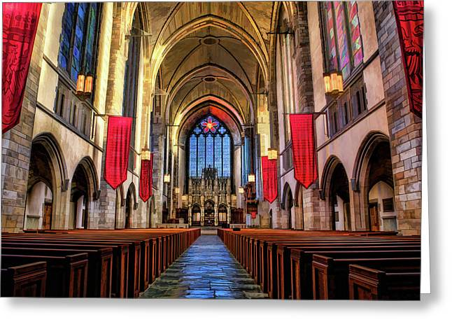 University Of Chicago Rockefeller Chapel Greeting Card