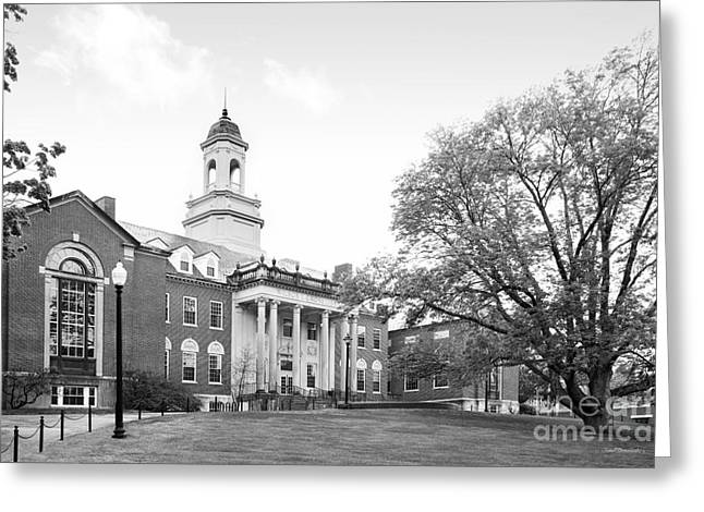 University Of Connecticut Wilbur Cross Building Greeting Card by University Icons