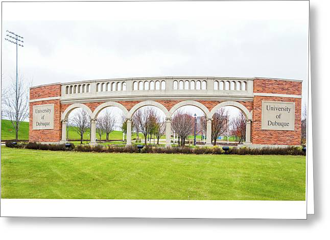 University Of Dubuque Greeting Card by Art Spectrum