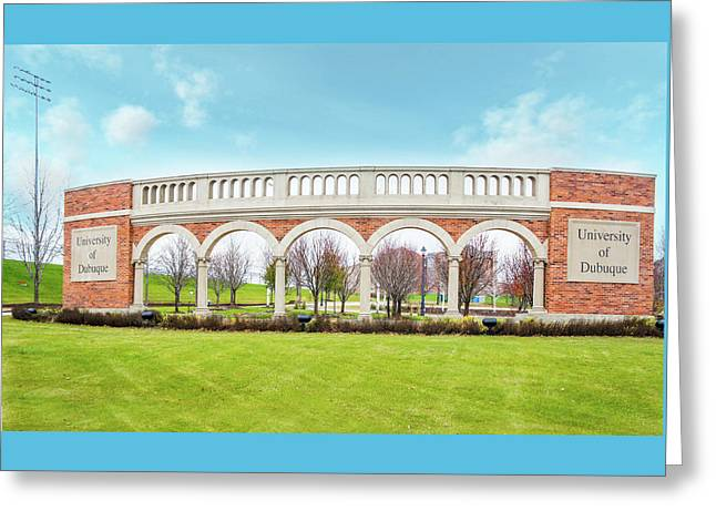 University Of Dubuque, Iowa Greeting Card