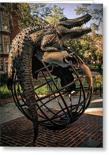 Greeting Card featuring the photograph University Of Florida Sculpture by Joan Carroll