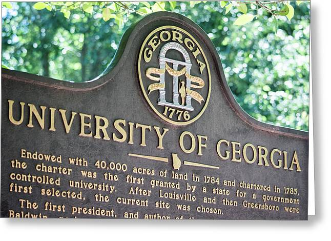 University Of Georgia Sign Greeting Card by Parker Cunningham