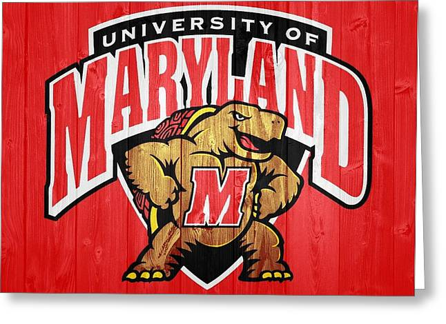 University Of Maryland Barn Door Greeting Card
