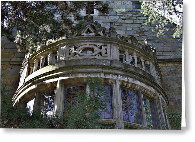 University Of Michigan Campus Building Greeting Card