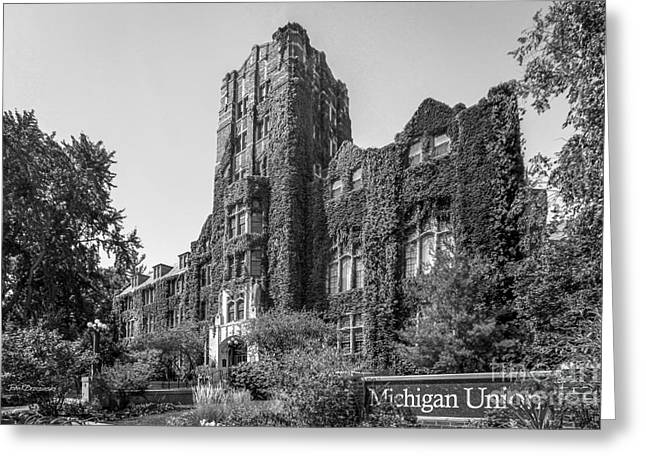 University Of Michigan Michigan Union Greeting Card by University Icons