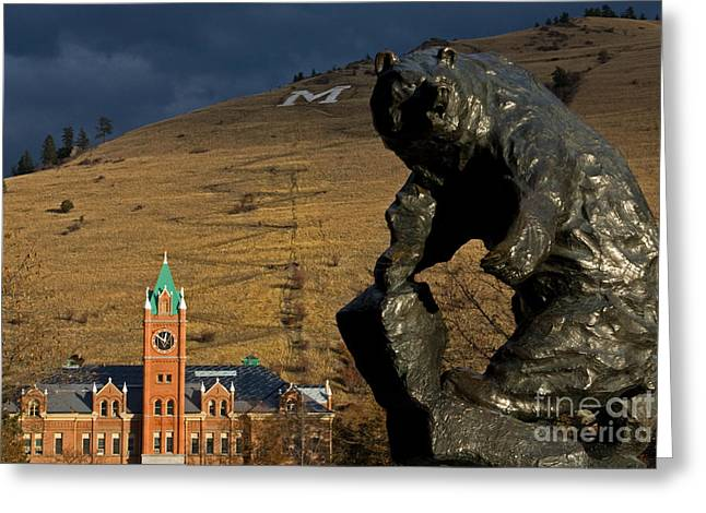 University Of Montana Icons Greeting Card by Katie LaSalle-Lowery