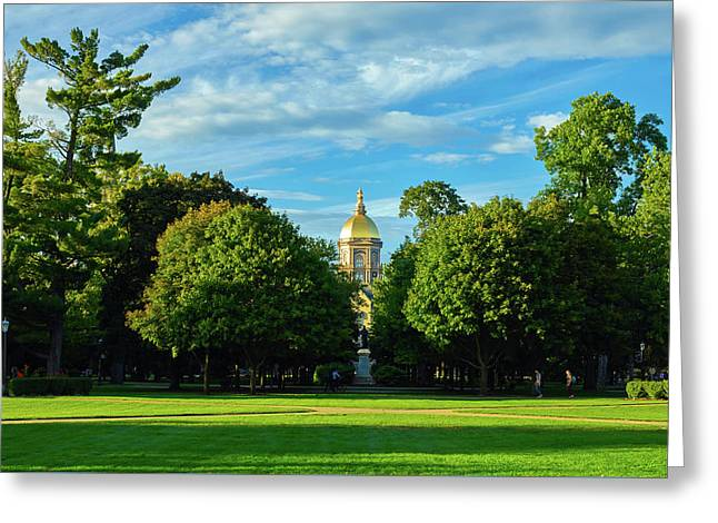 University Of Notre Dame Campus Greeting Card